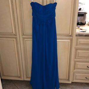 David's Bridal Royal Blue Gown